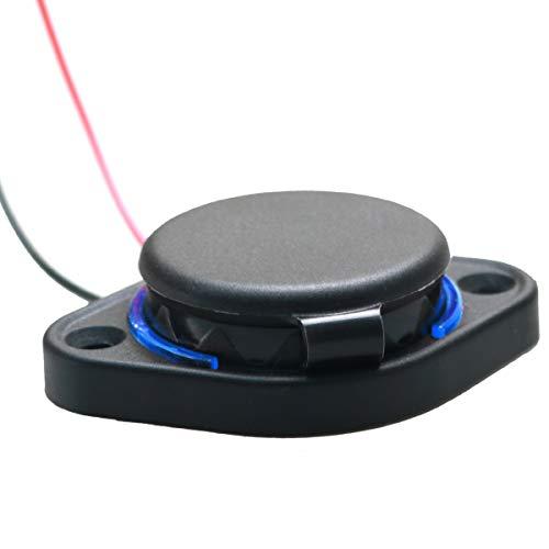 3.1A Cargador Dual USB Adaptador de Enchufe de Alimentación, Cargador Rápido Impermeable Toma de corriente de toma Montaje en Panel de carga para 12-24V Coche Barco para Marina, Barco, Motocicleta