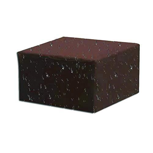 TOPKO Funda para muebles de jardín, impermeable, funda de sofá 210D, tela Oxford, resistente al viento, a la lluvia, resistente a los rayos UV, marrón