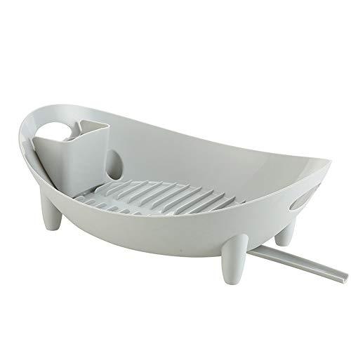 Étagère, ventilée et égouttée, matériaux soigneusement sélectionnés, facile à nettoyer, panier de vidange, panier de stockage de comptoir de cuisine (Color : Light gray)