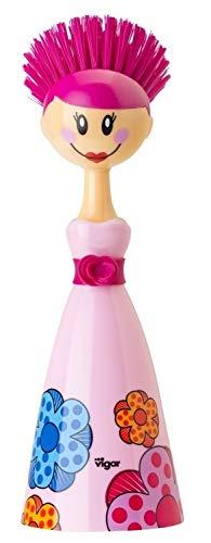 VIGAR Dolls – Brosse à Vaisselle, Plastique, Couleur Rose et Bleu