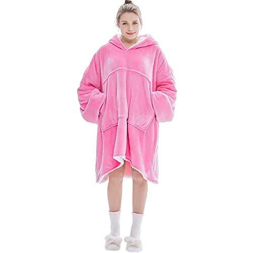 nobbeve Hoodie Sweatshirt, Original Decke Sweatshirt, super weiche gemütliche warme komfortable Riesen-Hoodie, 1 Größe passt alle, Männer, Frauen, Jugendliche (Rosa)