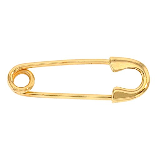 Solid 14k Yellow Gold Simple Safety Pin Brooch