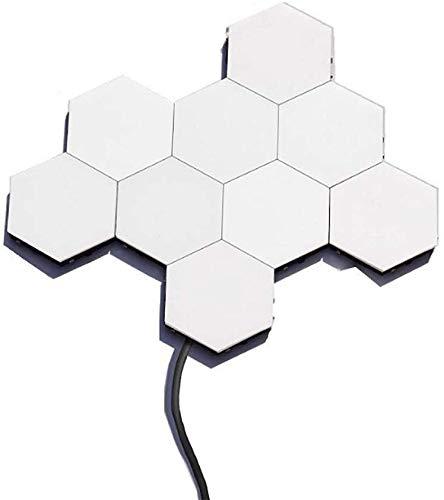 LED-Panels Wandleuchte Leselampe Touch- Sensitive Modulare Wandlampe Leseleuchte Dekoratives Lampe Wandlichter Weiß DIY Wandbeleuchtung mit 1×1,2m Kabel stecker, 1-Lichter= 3W