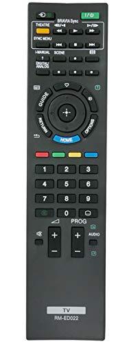ALLIMITY RM-ED022 Mando a Distancia reemplazado por Sony LCD Bravia Plasma TV RMED022 KDL-32NX500 KDL-32NX500E KDL-37EX302 KDL-37EX401 KDL-37EX401E KDL-37EX401U KDL-37EX402 KDL-40BX400