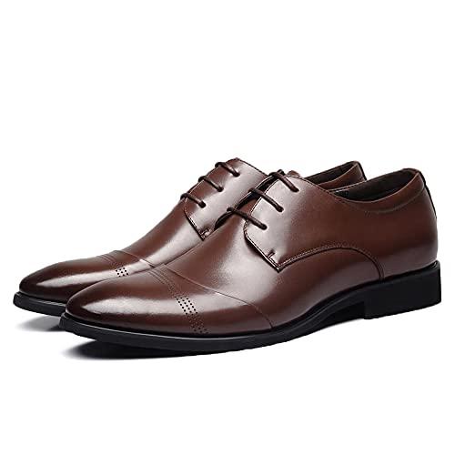 Sdmcdamzzy Herren Hochzeit Derby Enterprise Büro Klassisch formelle Enterprise Schuhe, braun, EU39 thumbnail