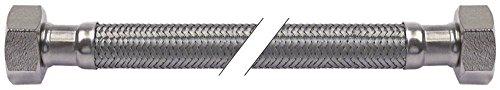 DVGW Tuyau flexible CNS droit DN10 Longueur 500 mm Raccord 1/2\