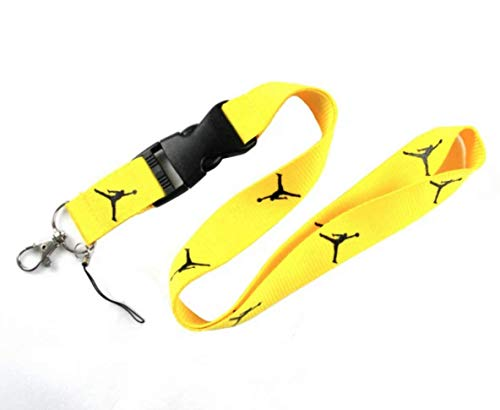 Lanyard estilo NBA Correa para el cuello, Cinta cuello tarjeta identificativa, para llaves, para móvil, para mascarilla, para teléfono.…