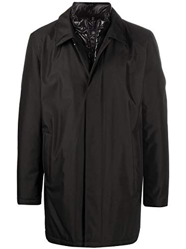Fay Luxury Fashion Herren NAM61410670QKJB999 Schwarz Polyester Mantel | Herbst Winter 20