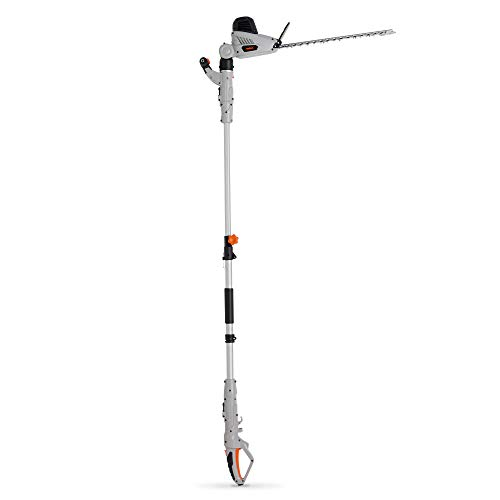 VonHaus Pole Hedge Trimmer 600W with Extendable 2.8m Reach, Adjustable Head, 45cm Blade Length & Protective Cover
