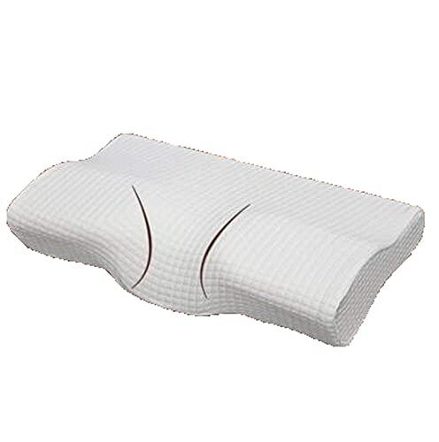JONJUMP Almohada ortopédica suave del cuello del color blanco magnético del látex lento rebote de la espuma de la memoria de la almohada de la salud cuello cervical