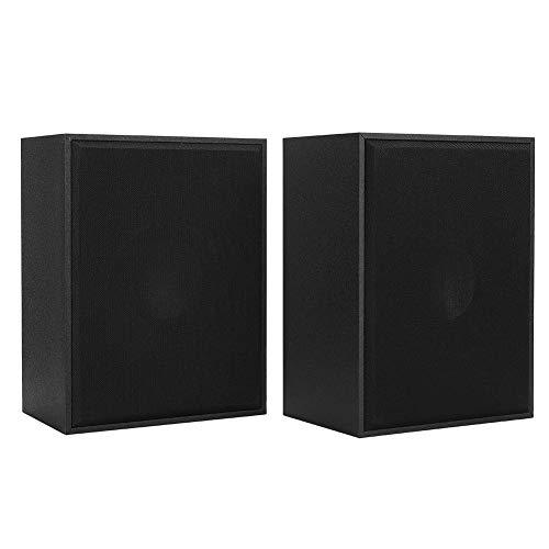 Luidspreker voor computer, Woodiness USB-tafel kleine luidspreker, 360 ° stereofoon geluid, handgemaakte houten kist, hoge gevoeligheid, voor desktoplaptop(zwart)