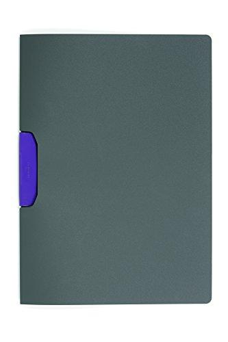 Preisvergleich Produktbild Durable 230412 Klemm-Mappe Duraswing Color (für 30 Blatt DIN A4) Beutel 5 Stück anthrazit mit lila Klemme