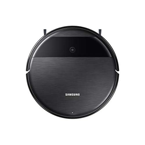Samsung VR05R5050WK/ET Robot 2 in 1 Aspira e Lava, Motore BLDC 5 W, Wi-Fi Programmabile da Remoto, 3400mAh, 34 x 8.5 x 34 cm, Nero