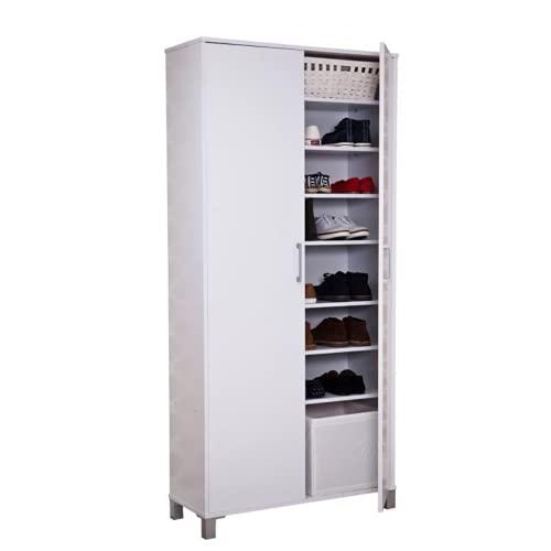 TOP KIT | Mueble Zapatero Duero 7177 | Medidas 84 x 190 x 33 | Armario Zapatero | Organizador de Zapatos | Muebles de madera |Blanco
