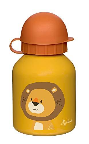 SIGIKID Borraccia in acciaio inox con leone forestale, 250 ml, per asilo e gite, senza BPA, raccomandata a partire dai 36 mesi, colore giallo, 25115