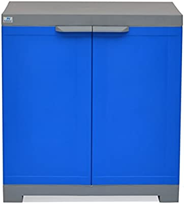 Nilkamal Polyurethane Small Shoe Cabinet , Blue