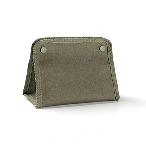Floepx Caja de pañuelos de lona, para salón en casa, diseño duradero, gran capacidad, plegable, organizador de pañuelos para el aire libre, camping