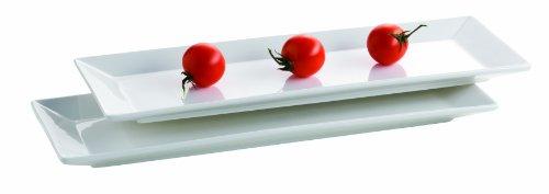 Mäser, Serie Trendy Line, Teller rechteckig 38 x 13 cm, im 2er-Set