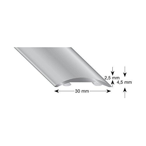 Kügele 503 S 100 Perfil plano hueco (aluminio, anodizado, 30/1000 mm), color plateado, Plata, 100cm