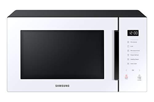SAMSUNG MG30T5018UW Micro-ondes avec grill 30 L 900 W, céramique Enamel, désodorisant et cuiseur vapeur Blanc