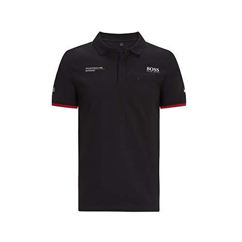 Porsche Motorsport Men's Team Polo Shirt in Black (XXL)