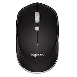 Logitech M337 Wireless Mouse, Bluetooth, 1000 DPI Laser Grade Optical Sensor, 10-Month Battery Life, PC/Mac/Laptop - Black,Logitech,910-004521