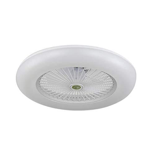 BEL AIR HOME - Ventilador Plafón Led Serie Raki Color Blanco Luz Integrada Led de 80W 3000K-4000K-6500K Con Mando a Distancia y Control por App Smart Elfin
