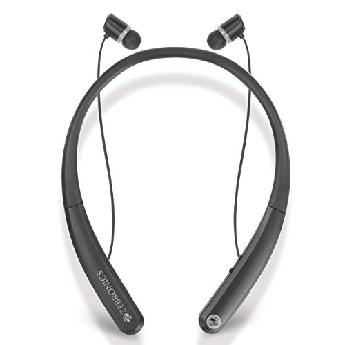 Zebronics Journey Wireless Flexible Neckband Stereo Earphones 4.1 with Mic | in-Ear Bluetooth Sports Headsets with Magnetic Earpieces for All Andriod & iOS Smartphones (Grey)