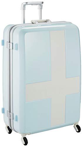 [イノベーター] スーツケース 大型 カードキー 消音キャスター INV68T 保証付 90L 68 cm 4.8kg ブルー/アイボリー