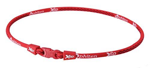 ファイテン(phiten) ネックレス RAKUWA ネックX50 レッド 55cm