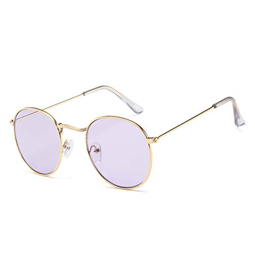 Générique Occhiali da Sole da Donna,Occhiali da Sole Vintage Specchio di Marca Designer Donna/Uomo Occhiali da Sole da Esterno Rotondi Classici Occhiali da Sole Uv400 Oculos De sol Gafas per Sport