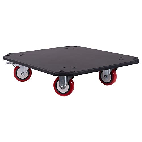 Sound Town Replacement Caster Board for Road/Rack Case, with 4-inch Wheels and Brakes (STRC-CB)