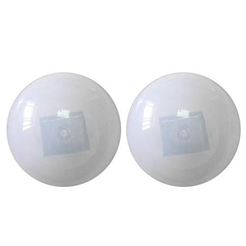 F Fityle LED Schwimmleuchte Kugelleuchte2er Set Solar Schwimmkugel Solarlampe Kugel 8.5 x 8.5 x 8.5cm