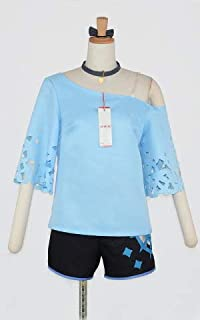 キングスレイド(キンスレ) パベル バカンス 髪リボン付き コスプレ衣装 [2809] 女性XL