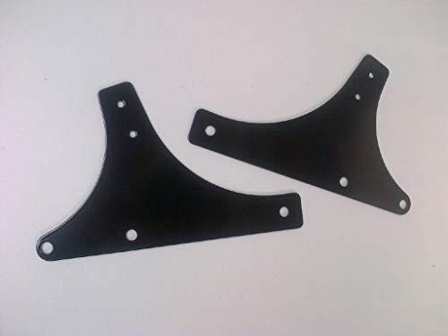Rückenlehne Sissybar Seitenplatten für Harley-Davidson FLST FXST Softail Modelle Schwarz