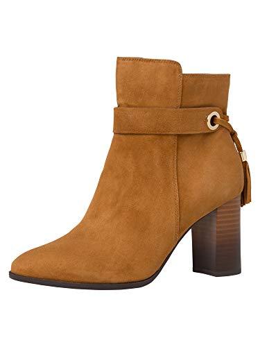 Tamaris Damen Stiefeletten, Frauen Ankle Boots, reißverschluss Ladies Women's Women Woman Freizeit leger Stiefel halbstiefel Lady,NUT,38 EU / 5 UK