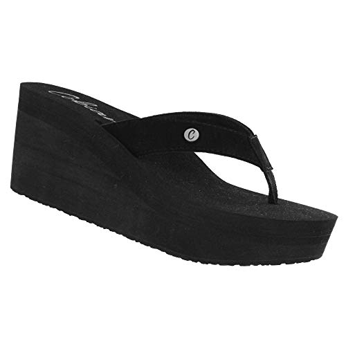Cobian Women's Lanai Black Wedge, 8