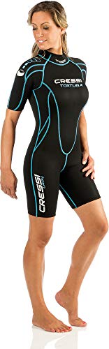 Cressi Tortuga Lady Wetsuit 2.5 mm - Shorty Neoprenanzug aus High Stretch...