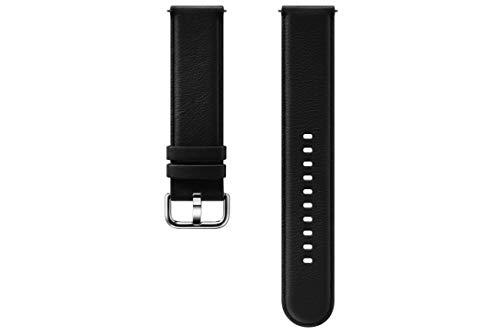 Samsung Galaxy Watch Active2 Lederarmband, schwarz