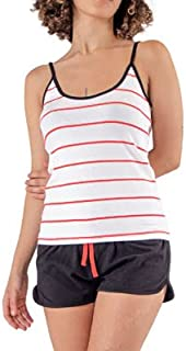 ملابس من قطعتين بدون اكمام - رقبة دائرية مقاس مناسب لكل النساء من سيه سا، 2725619857163