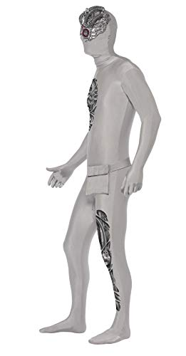 Smiffys Robotic Second Skin Costume, Argento, M