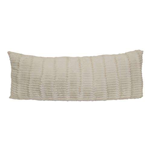 Brentwood Originals Cut Fur Pillow, 20x48, Ivory
