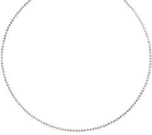 DUR: glänzende geschliffene Kugelkette, Sterling-Silber 925, Länge: 60 cm