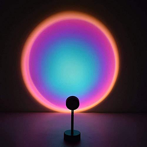 CITTATREND - Lampada a LED per proiezione arcobaleno, Irisation, lampada d'atmosfera, luce notturna, proiettore girevole a 180°, per casa, studio, decorazione, matrimonio, compleanno, festa