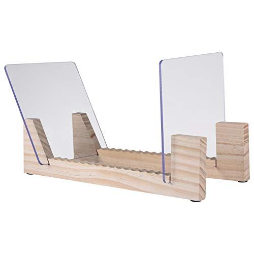 WXGY Vinyl-Plattenhalter, Vinyl-Plattenhalter für Displayständer für bis zu 25 Alben Desktop-Holz-Displayständer