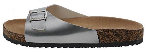 Noos Icon Damen Sandale, silberfarben, 41 EU