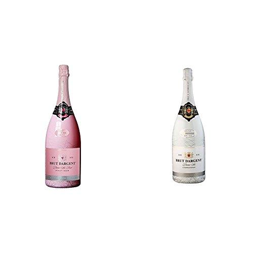 Brut Dargent Ice Rose Pinot Noir Demi-Sec Halbtrocken 2015/2016 (1 x 1.5 l) + Brut Dargent Ice Chardonnay Demi-Sec Halbtrocken 2015 (1 x 1.5 l)