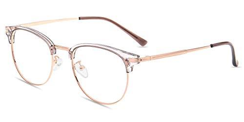 Firmoo Anti Blaulicht Brille ohne Sehstärke Damen Entspiegelt Lila, Eckige Computer Brille mit Blaulichtfilter, Blaufilter Gläser UV Schutzbrille für Bildschirme Augenschutz