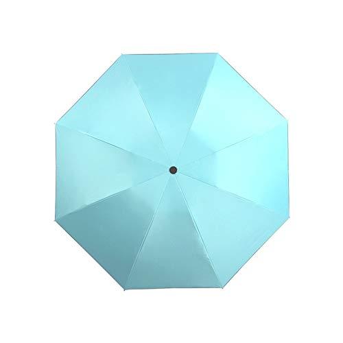 Paraguas Plegable Sombrilla Anti-UV Inversa Inversa A Prueba De Viento Moda Portátil Duradera, Hombres Y Mujeres Paraguas (Color : Sky Blue)