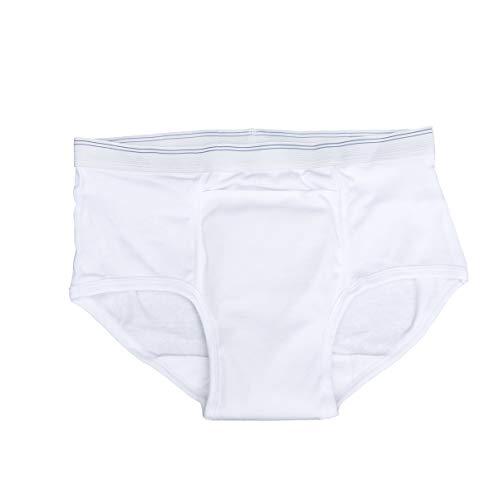 HEALIFTY calzoncillos para incontinencia calzoncillos a prueba de agua algodón impermeable suave simple para adultos mayores (patrón de hombre tamaño: m)